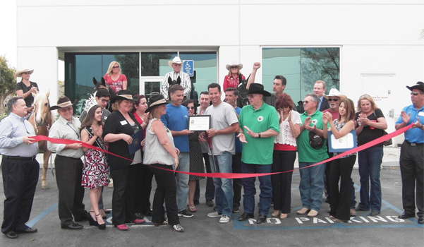 Ribbon cutting for our 30 years in business with Mayor Hanna and Miss Norco