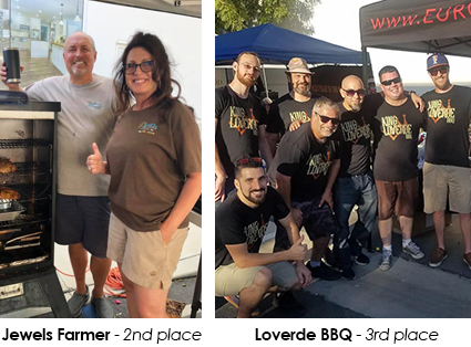 Jewels Farmer 2nd place  |  Loverde BBQ 3rd place